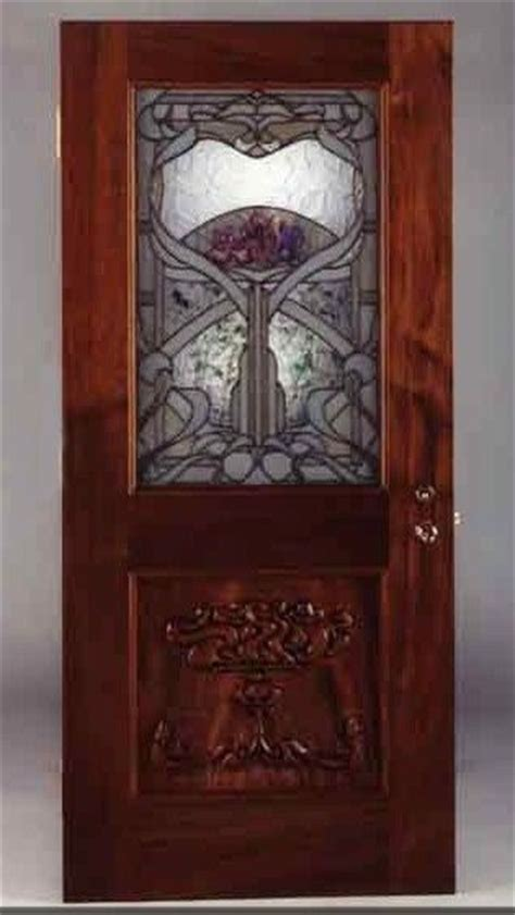 custom  stained glass art nouveau door  lederer studio furniture custommadecom