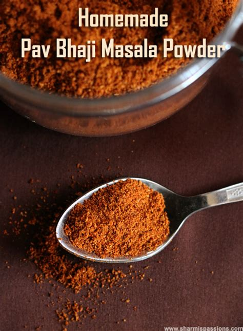 pav bhaji masala recipe in marathi pav bhaji masala powder sharmis passions
