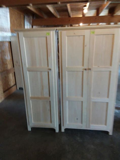 amish pine pantry lam brothers unfinished furniture