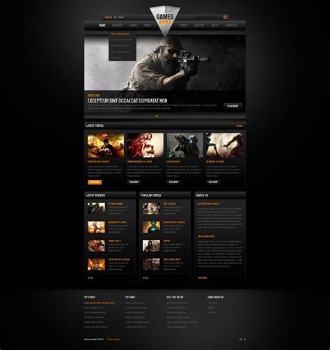 Game Portal Website Template 41559 Buy Html Website Templates