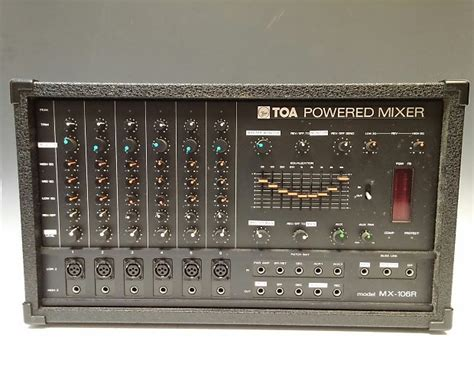 Mixer Power Lifier Toa toa mx 106r powered mixer reverb
