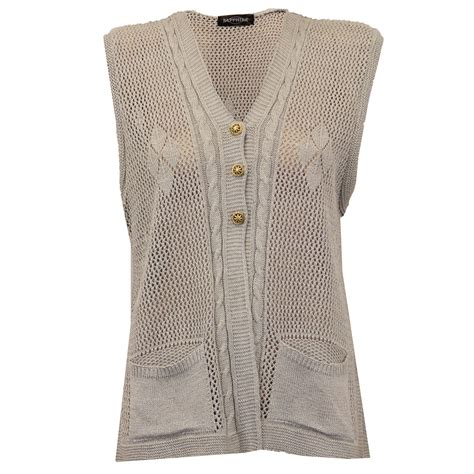 knitted gilet pattern cardigans womens gilet knitted crochet waistcoat