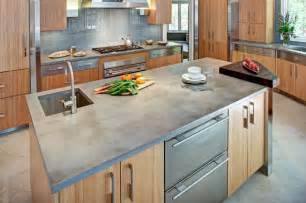 Recycled Countertop Materials concrete kitchen countertop and island contemporary
