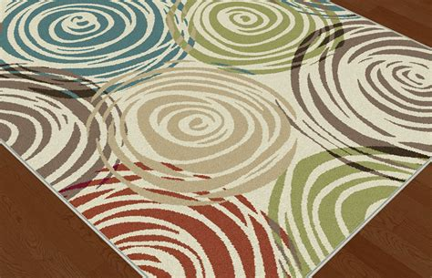 Circle Area Rug Ivory Contemporary Circles Area Rug Modern Geometric Swirls Multi Color Carpet Ebay