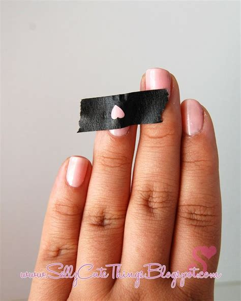 easy nail art masking tape use hole puncher and masking tape to make shapes on nail