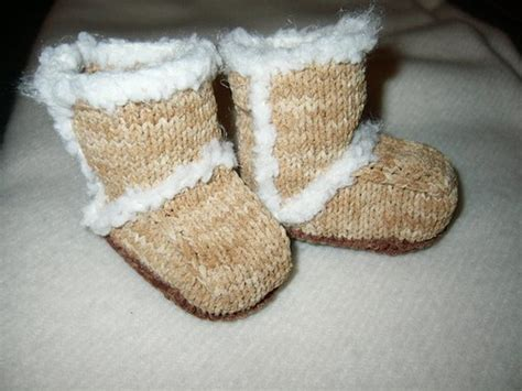 knitting pattern ugg boots knit baby booties free pattern ugg style beesdiy com