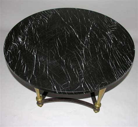 Black Marble Coffee Table Brass Coffee Table With Black Marble Top At 1stdibs