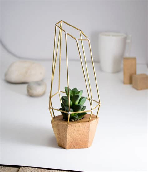 Planters Modern by Modern Faceted Geometric Planter For Air Plant Succulent