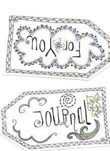 goudenregen labels made with shrinky dinks