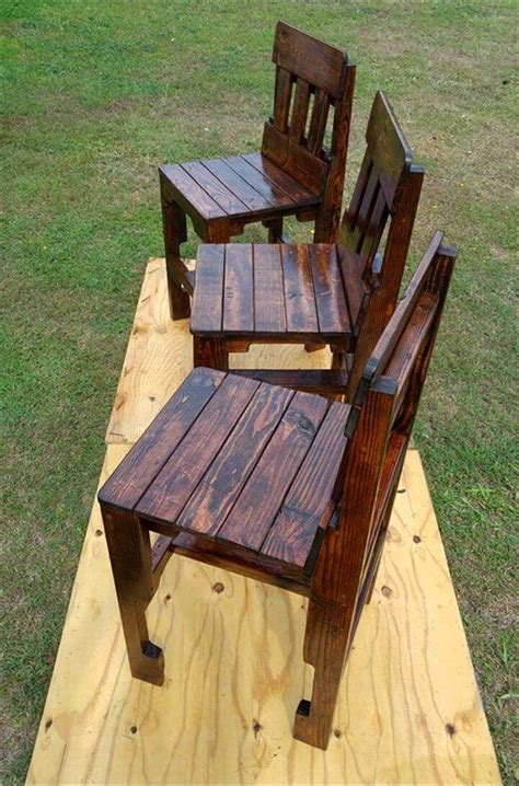 chairs made from wood pallets pallet kitchen counter chairs 99 pallets