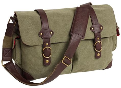 Messenger Bag Olive douglas olive canvas messenger bag with faux leather trim