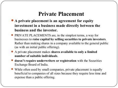 private placement and venture capital