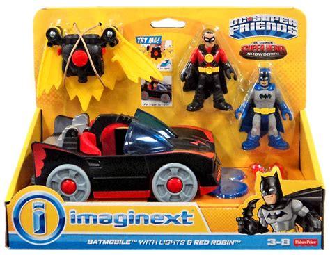 imaginext batmobile with lights dc showdown imaginext batmobile