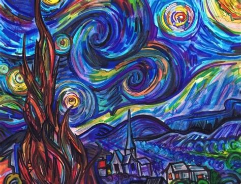 9 geeky variations of a starry night by van gogh epic 17 best images about van gogh s starry night on pinterest