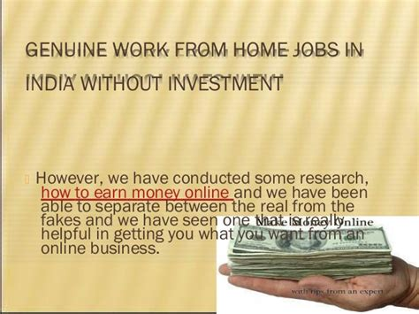 Genuine Ways To Make Money Online - how to earn money from home in india without investment genuine howsto co
