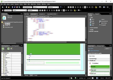 tutorial web expression 4 microsoft expression web horizontal navigation