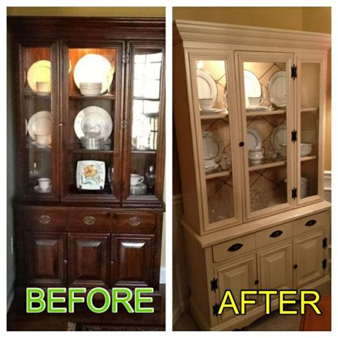 Diy One Day China Cabinet Makeover Cabinet Painted With
