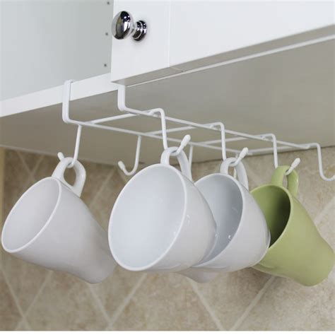 Cup Holders For Kitchen Cabinets New Cabinet Mug Cup Holder Kitchen Hanging Organizer Drying Rack Cupboard Hook Organizers