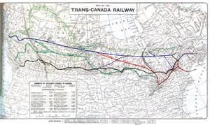 vintage trans canada railway map trans canada railway