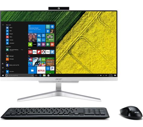 Acer All In One C22 860 Dos acer aspire c22 860 21 5 quot all in one pc silver office 365 home 1 year for 5 users