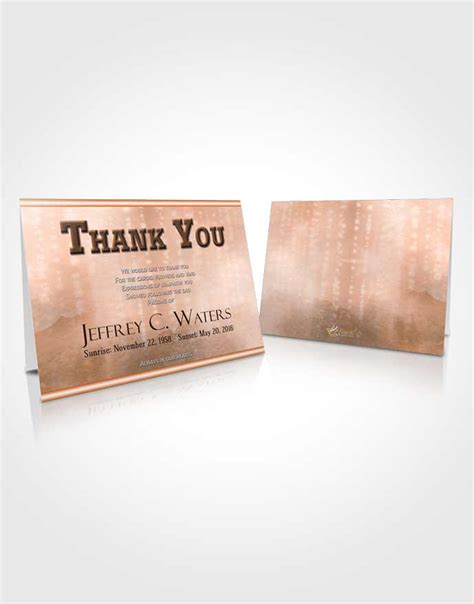 Rustic Thank You Card Template by Thank You Card Template Rustic Timeless