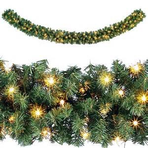 weihnachtsgirlande mit beleuchtung für innen deko tannengirlande licht f 252 r innen 270 cm 25 cm 216