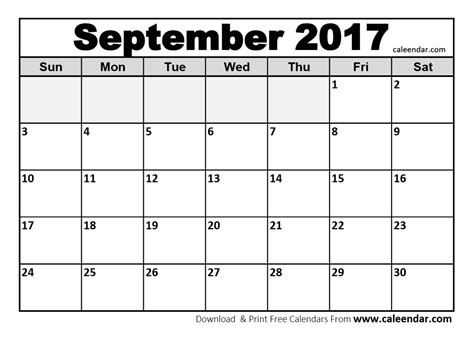 printable calendar sept oct 2017 september 2017 calendar templates caleendar com