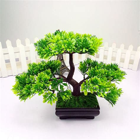 artificial plants home decor aliexpress com buy 1pc welcoming pine emulate bonsai