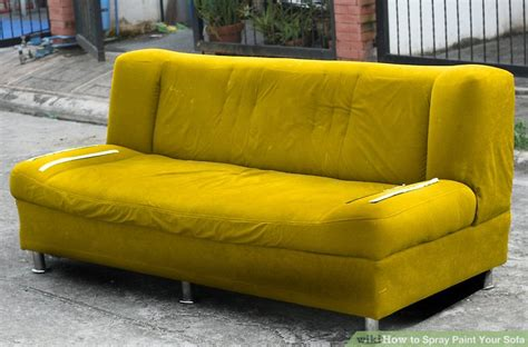 sofa paint spray how to spray paint your sofa 14 steps with pictures