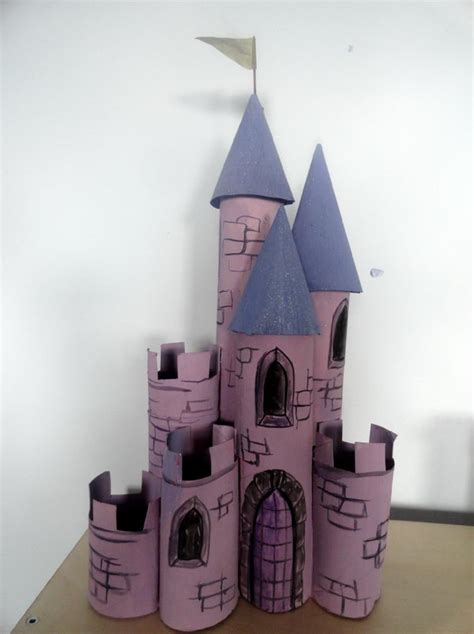 Toilet Paper Roll Castle Craft - 10 building themed toilet paper roll crafts hative