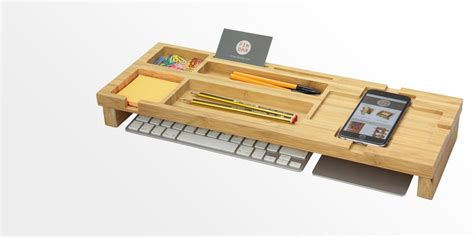 Office Desk Tidy Bamboo Keyboard Top Desk Tidy Bamboo Keyboard Organiser
