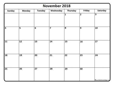 printable calendar november 2018 image gallery nov 2018 calendar