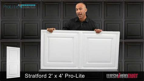 prolite stratford 2x4 ceiling tile youtube