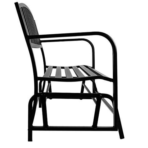 loveseat 50 inches belleze 50 inch outdoor patio glider bench rocker swing