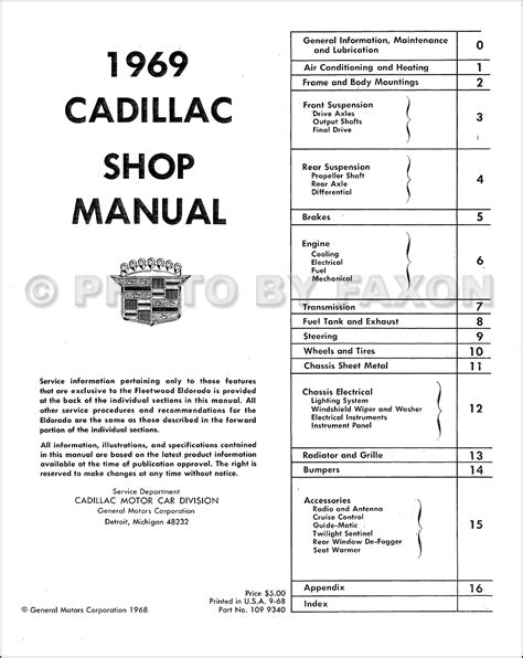 small engine repair manuals free download 1997 cadillac deville user handbook 1969 cadillac repair shop manual reprint