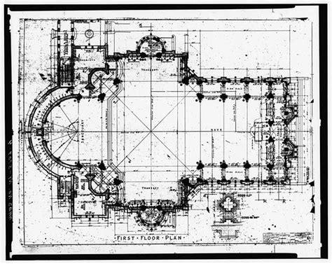 catholic church floor plans 4 drawing of first floor plan blessed trinity roman