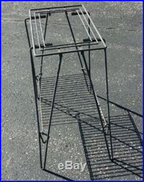 Vintage Retro Tv Radio Shape Iron Metal Table Clock Jam Meja Vintage Mid Century Eames Retro Atomic Iron Metal Tv Hairpin Leg Table Stand