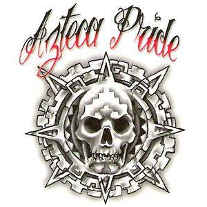 bullseye urban realistic temporary tattoo azteca pride
