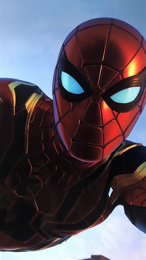 wallpaper spider man iron spider  games