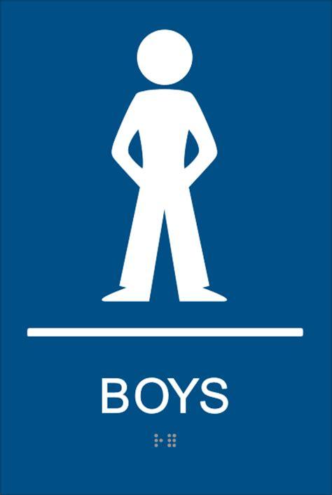 boys bathroom symbol