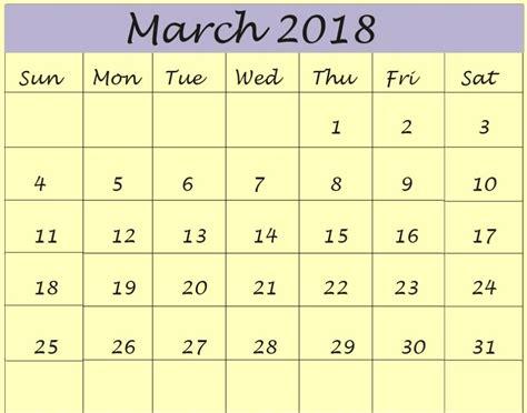 fillable calendar template 2018 march 2018 calendar fillable calendar template letter