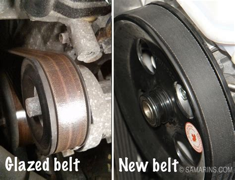 serpentine belt tensioner problems signs  wear   replace noises