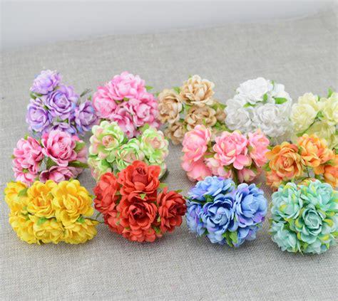 aliexpress buy 6pcs silk artificial flower iris 6pcs cheap artificial flowers roses silk flower diy wreath material wrist flower headwear