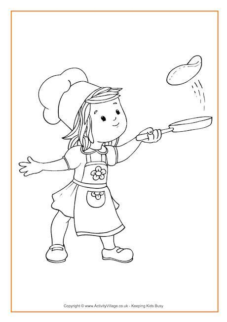 pancake coloring pages flipping pancakes colouring page ideas