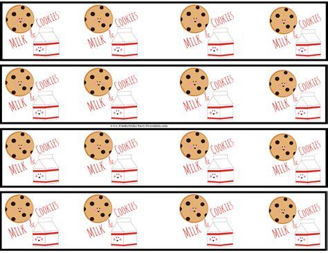 Milk And Cookie Free Birthday Party Printables Printable Cookie Template