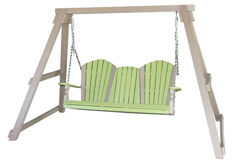 wooden a frame for swing poly wood swing a frame