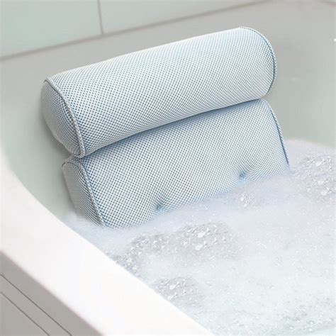 bathtub head pillow bath tub spa pillow cushion neck back support foam comfort
