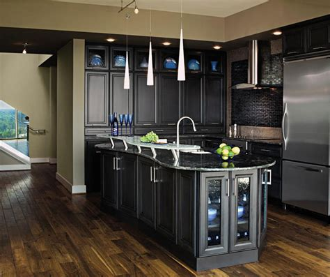 Dark Cabinet Kitchen Designs contemporary shaker kitchen cabinets decora