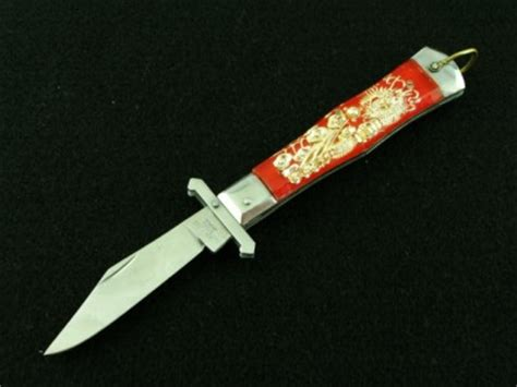swing guard knife vintage japan red dragon matador pocket swing guard knife