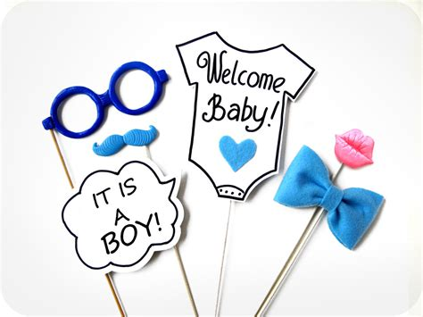 Cake Vase Set It S A Boy Photo Booth Props 6 Piece Photo Prop Baby